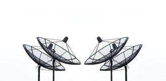 Satellite dish on white background for communication Royalty Free Stock Photo
