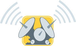 Satellite dishes. Icons of Satellite dishes, can be used for anything Stock Photo