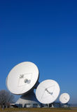 Satellite dishes. At a ground communication station in bavaria,germany Stock Photos