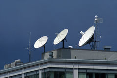 Satellite Dishes Royalty Free Stock Images