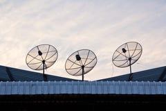 Satellite dishes. Royalty Free Stock Photos