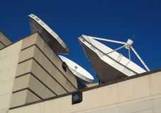 Satellite Dishes Royalty Free Stock Photography