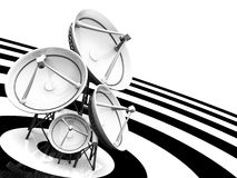 Satellite dishes. Group of dishes facing diferent direccion Stock Images
