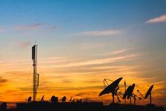 Free Satellite Dishes Stock Image - 93790631