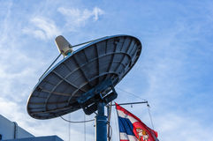 Satellite dishes antenna. On blue sky Stock Images