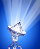 Satellite dishes antenna - doppler radar Stock Images