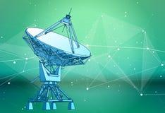 Satellite Dishes Antenna - doppler radar vector illustration