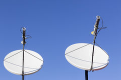 Satellite Dishes Blue Royalty Free Stock Image