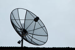 Satellite dishes communication technology Royalty Free Stock Images