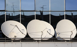 Satellite dishes Royalty Free Stock Photos