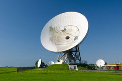 Satellite dishes in landscape Royalty Free Stock Photo