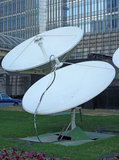 Satellite dishes. Located in shanghai,china Royalty Free Stock Images