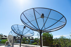 Satellite dishes Stock Photo