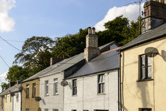 Satellite dishes on old houses,  Bodmin , Cornwall Stock Image