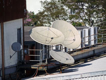Satellite dishes Stock Photography