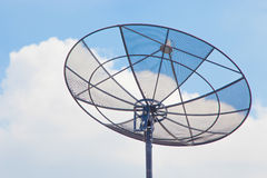 Satellite dishes. Satellite dishes on the sky background Stock Photo