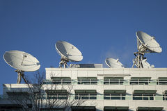 Satellite Dishes used for Broadcasting Stock Images