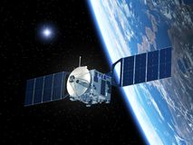 Satellite e stella Fotografie Stock