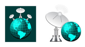 Satellite on earth Royalty Free Stock Photography