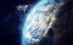 Satellite and earth Stock Photography