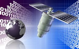 Satellite and Earth Royalty Free Stock Photos