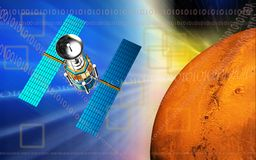 Satellite and earth Stock Image