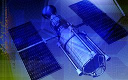Satellite and earth Royalty Free Stock Photo