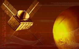 Satellite and earth vector illustration