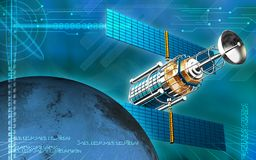 Satellite and earth Royalty Free Stock Image
