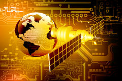 Satellite  at the Earth orbit Royalty Free Stock Images