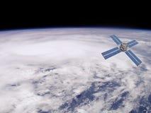 Satellite en orbite illustration de vecteur