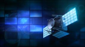 Satellite et moniteurs Photos stock