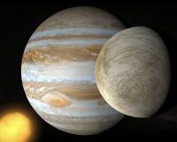 Satellite Europa, Jupiter's moon Royalty Free Stock Images