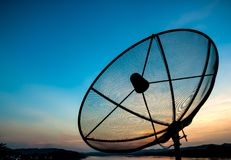 Satellite in the evening Stock Images