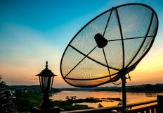 Satellite in the evening Royalty Free Stock Images