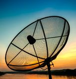 Satellite in the evening Stock Photography