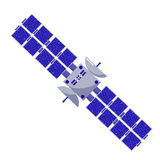Satellite flat style. Isolated space objects on a white background. astronautics science Stock Photography