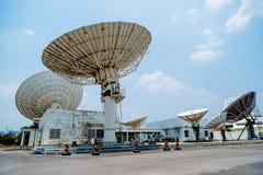 Satellite on ground station Stock Image