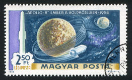Satellite. HUNGARY - CIRCA 1969: stamp printed by Hungary, shows satellite, circa 1969 Stock Images