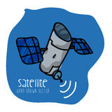 Satellite icon. Design, vector illustration eps10 graphic Royalty Free Stock Photography