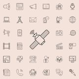 Satellite icon. Detailed set of Media icons. Premium quality graphic design sign. One of the collection icons for websites, web de. Sign, mobile app on colored vector illustration