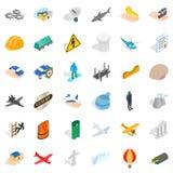 Satellite icons set, isometric style. Satellite icons set. Isometric style of 36 satellite vector icons for web isolated on white background Royalty Free Stock Photo