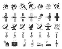 Satellite icons vector Stock Photos