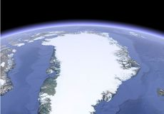 Satellite image of earth stock illustration