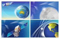 Satellite images Royalty Free Stock Photos