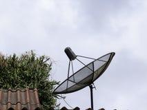 Satellite. Information digital signal mediatelecommunications Royalty Free Stock Images