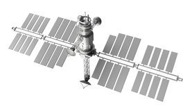 Satellite isolated over white Stock Photography