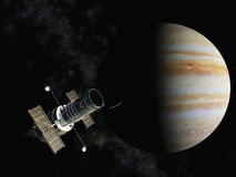 Satellite and jupiter Stock Photos