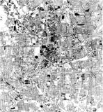Satellite map of Atlanta, Georgia, Usa, city streets. Street map and map of the city center vector illustration
