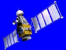 Satellite militaire sur le bleu Photo libre de droits